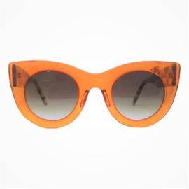 G48 Transculent Orange with Animal Print Sunglasses