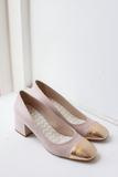 Doris Pink/Gold Pump by Portamento shoes