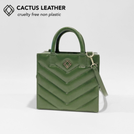 Boxbag Cactus Leather Stitches by Trashious