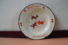 Emaille kinderbord van Molenaar's Kindermeel