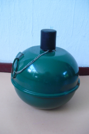 Emaille groene olielamp