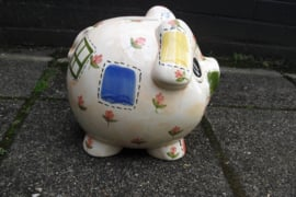 Spaarvarken, handgeschilder