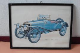 Prent van een Hispano-Suiza 1912
