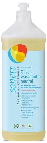 Sonett Olijven Wol & Zijde wasmiddel SENSITIEF 1l