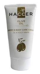 Haccer Hand & Bodycrème, met echte vanille. 150ml