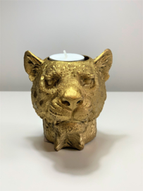 HV Candle Holder Lion - GOUD