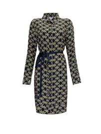 Dress Roxy - BLAUW/GEEL