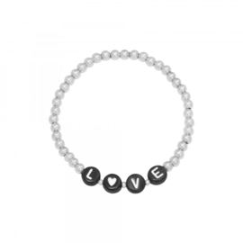 Armband love - ZILVER