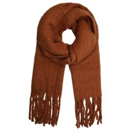 Solid sjaal - COGNAC