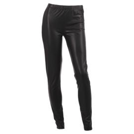 Fake leather legging  - ZWART