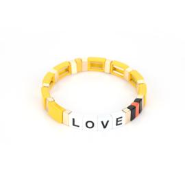 Armband love - GEEL