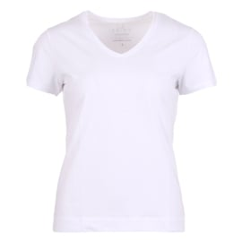 T-shirt V-hals Enjoy womenswear - WIT