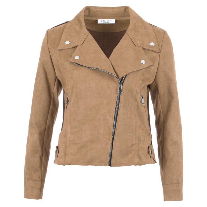 Biker jasje Enjoy womenswear - SAND