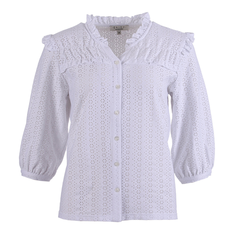 Blouse broiderie - WIT