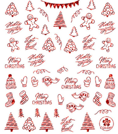SO STICKER CHRISTMAS TIME RED FLAME