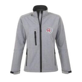 Softshell jacket | Dames | Grijs | Opdruk keuze