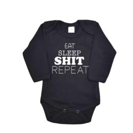 Romper   Baby   Eet sleep shit repeat