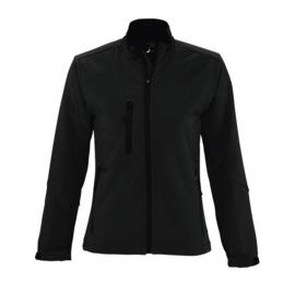 Softshell jacket | Dames | Zwart | Opdruk keuze