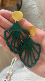 Boho chandelier green
