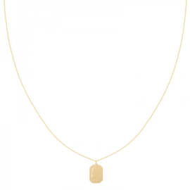 Gold quote necklace