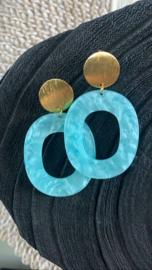 Boho oorbellen blauw
