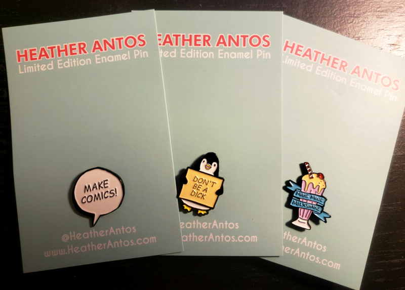 Heather Antos 2019 Enamel Pin Set
