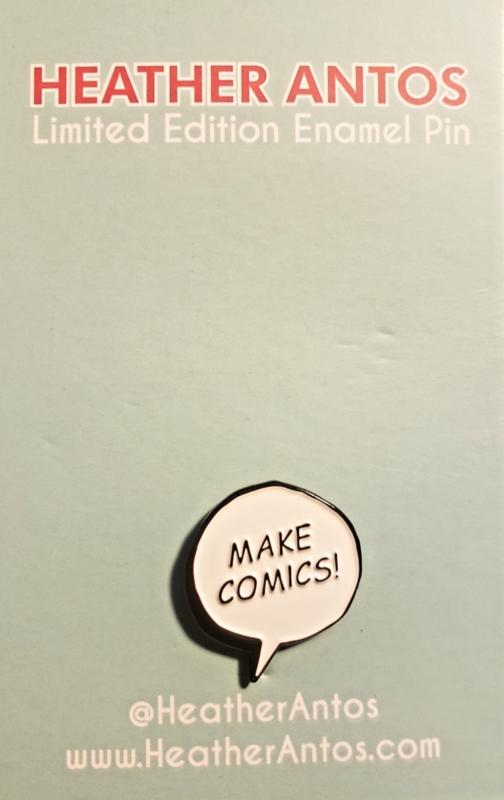 """""""Make Comics"""" Enamel Pin"""