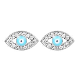 Oorbellen blauwe ogen
