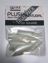 Plush Tips – Tapered Square Natural – TRIAL