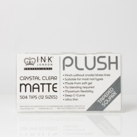 Plush Tips - Tapered Square Crystal Clear Matte - Box