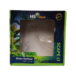 HS aqua glazen uitstroom 16 mm