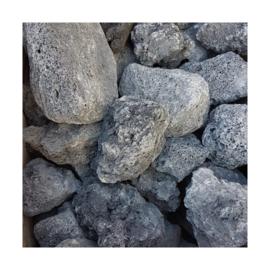 Zwarte lava steen (per kilo)