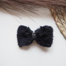 Zwart furry 7cm