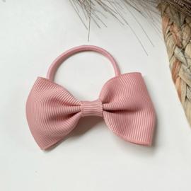 Haarstrik oud roze 7cm
