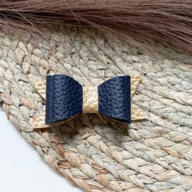 Goud/blauw 8cm