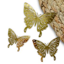 Vlinder goud (groot)