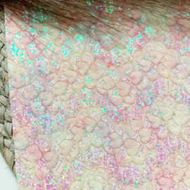 Glitter pastel kant luxe A4