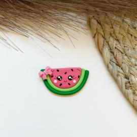 Meloen roze strik