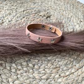 Armband licht roze zilver