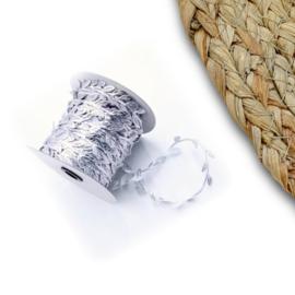 Zilver blaadjes lint p/m