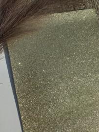 Fijn glitter licht goud A4