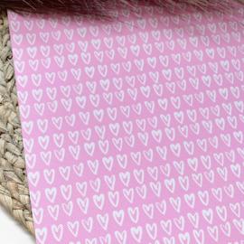 Hartjes licht roze 34x20cm