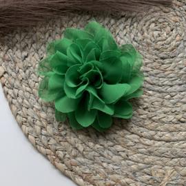 Chiffon bloem groen 10cm
