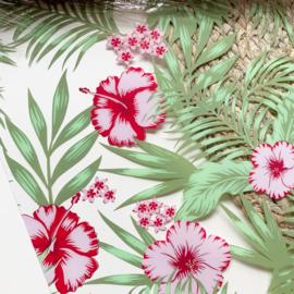 PVC tropical flower 34x20cm