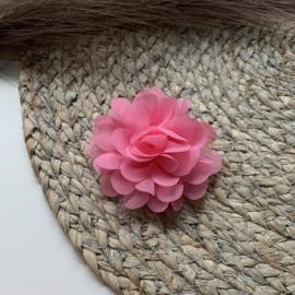 Chiffon bloem roze 7cm