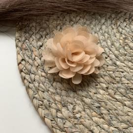 Chiffon bloem nude 7cm