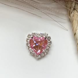 Hart roze 18x16mm