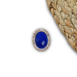 Ovaal koningsblauw 25x20mm