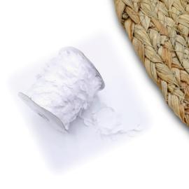 Witte blaadjes lint p/m