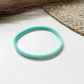 Turquoise haarbandje smal